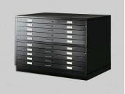 Black Metal Drawer Draftech - A1 DIN - 10 drawers