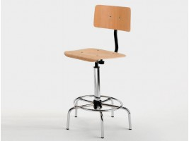 Drafting Stool with Backrest