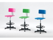 Adjustable stool 50/76 cm - Blue, Green, Magenta -