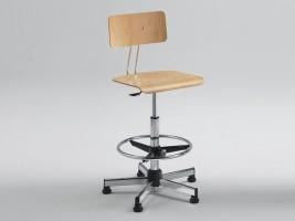 Designer Drafting Stool with Backrest