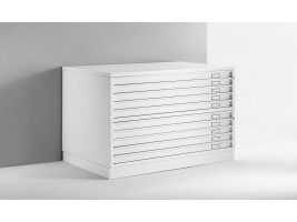 Draftech Basic - Chest of drawers A0 -10 Drawers - White
